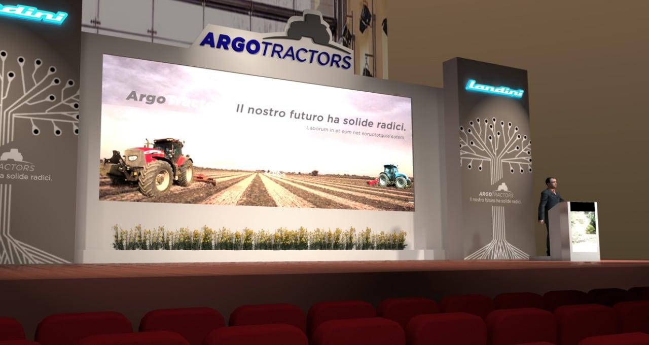 ARGO TRACTORS - Presentazione Gamma - Parma - rendering