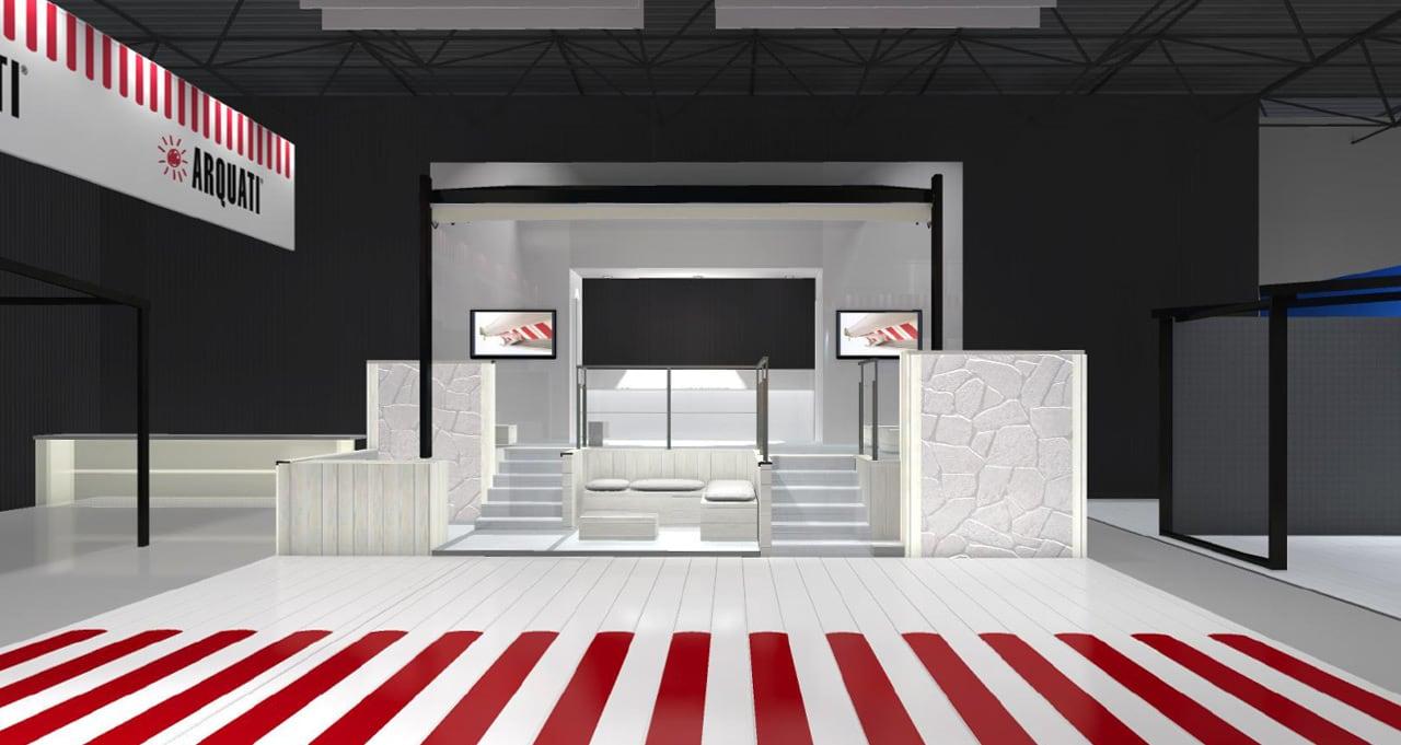 ARQUATI - SHOW ROOM - PARMA - rendering
