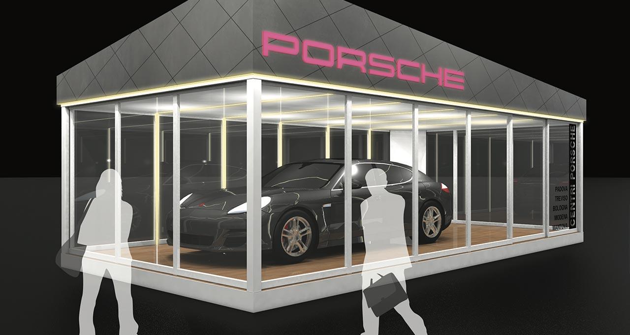 PORSCHE - Presentazione auto - Cortina d' Ampezzo (BL) - rendering